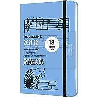 Moleskine - Agenda semanal (de 18 meses, de Peanuts del agenda 2021, formato de bolsillo), color Azul