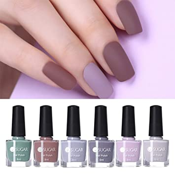 Amazon Com Ur Sugar 6ml Matte Nail Polish Set Pure Peel Off Nail