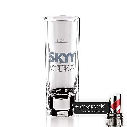 Skyy Vodka Cristal Vasos Shot Cristal aguardiente cristal Gastro Bar Decoración + Botella vertedor