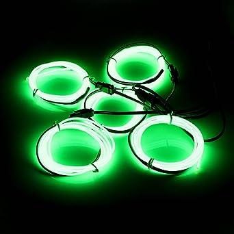 AUDEW 5x 1m Fluoreszenz Grün EL Wire EL Kabel Neon Beleuchtung ...