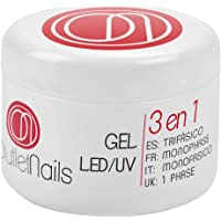 Gel UV 3 en 1 UV/Led Monophase 50ml / 3en1 gel ongles = Base + Construction + Finition / monophasés Mono Phase / Gel Monophase (3 en 1)