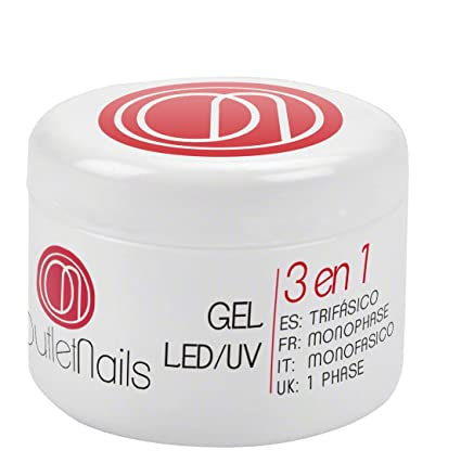 Gel Trifasico UV/LED 50ml para Uñas de OUTLET NAILS, transparente, Viscosidad media