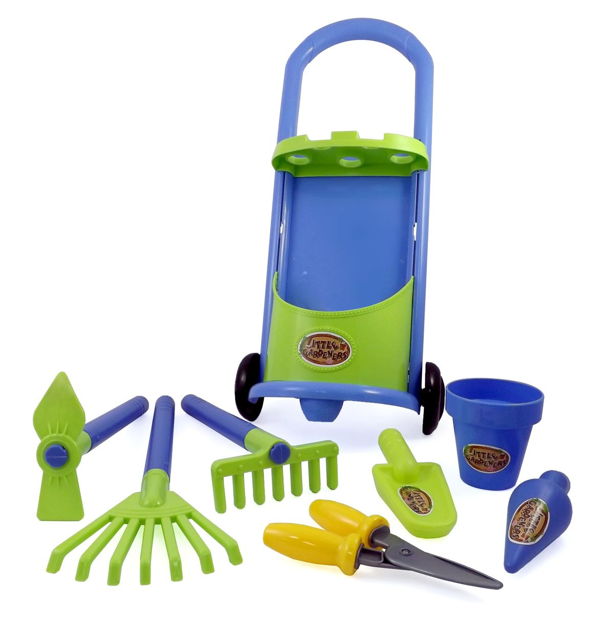 Kids garden trolley set children game outdoor fun play toy for Gardening tools for 3 year old