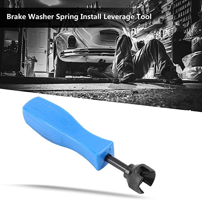 Brake Drum Spring Drum Brake Hold Down Washer Tool Spring Compressor Remove Install Leverage Tool Blue and black