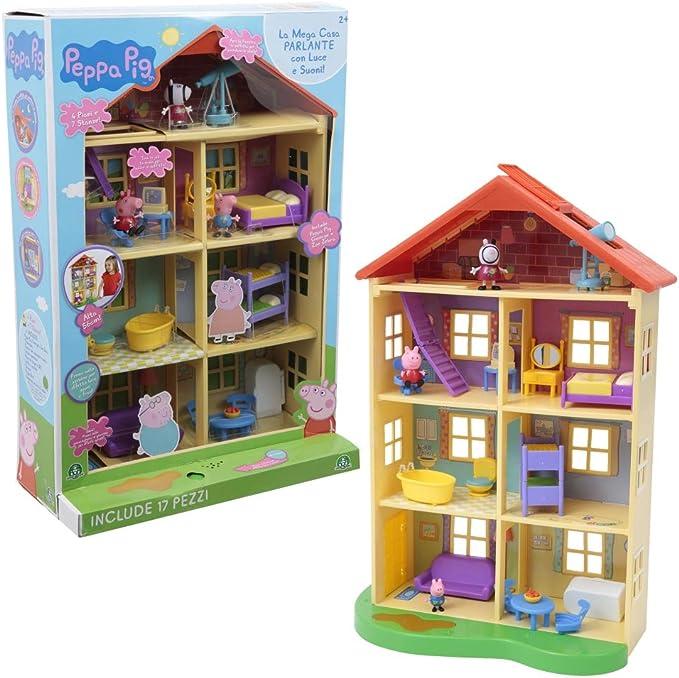 Amazon.es: Giochi Preziosi PPC39000 Peppa Pig Mega Casa con 3 Personajes, plástico, 58, 4 x 20, 3 x 39, 4 cm: Juguetes y juegos