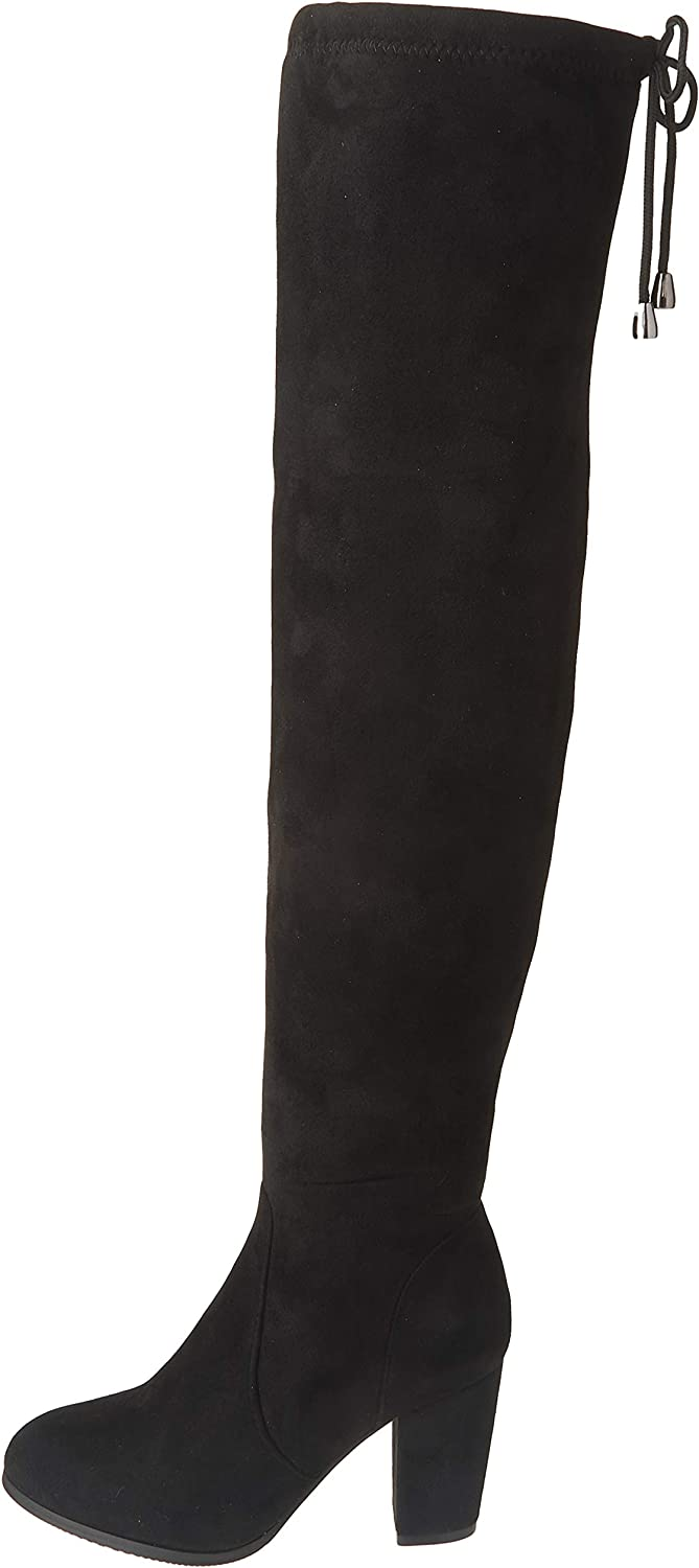 DREAM PAIRS Women's Thigh High Fashion Boots Over The Knee Block Mid Heel Boots: Shoes