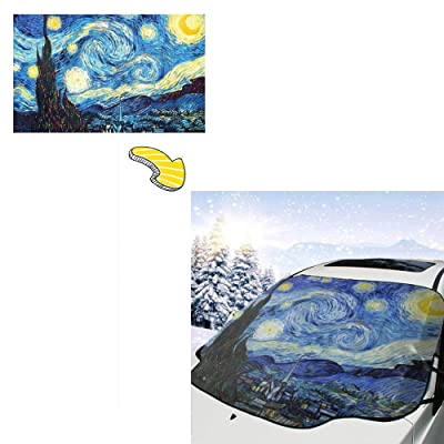 PandainspirS Car Windshield Snow Cover Sunshade Protector Snow Ice Frost Protector Waterproof for Cars Trucks Vans SUV All Weather Winter Summer: Car Electronics