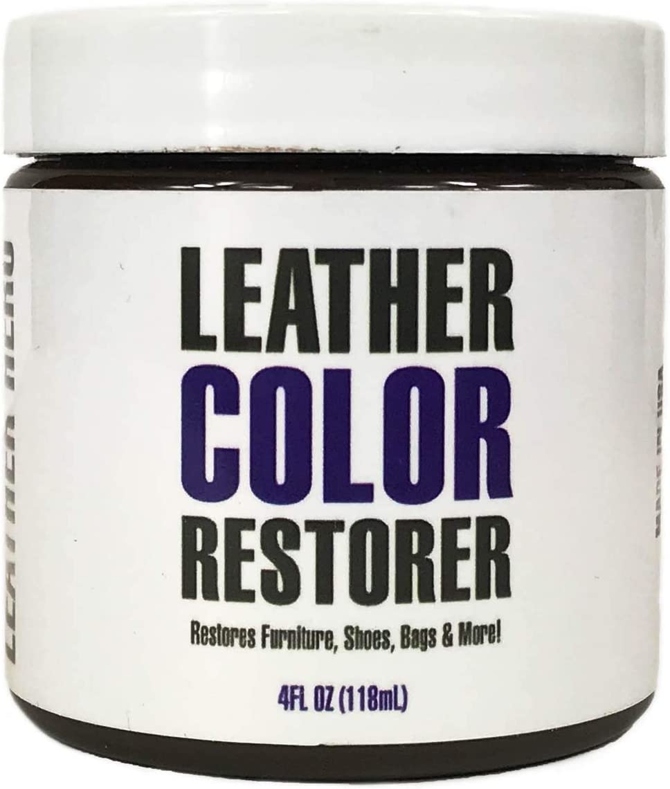 Leather Hero Leather Color Restorer & Applicator- Repair, Recolor, Renew Leather & Vinyl Sofa, Purse, Shoes, Auto Car Seats, Couch-4oz(Dark Brown)