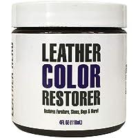 Leather Hero Leather Color Restorer & Applicator- Refinish, Repair, Renew Leather & Vinyl Sofa, Purse, Shoes, Auto Car…