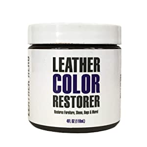Leather Hero Leather Color Restorer & Dauber Kit- Repairs, Renews & Recolors Faded Leathers | Many Colors for Couches, Shoes, Purses, Car Seats & More - 4oz (Mahogany)