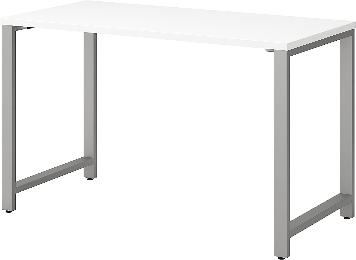 Bush Business Furniture 400 Series Table Desk with Metal Legs, 48W x 24D, White