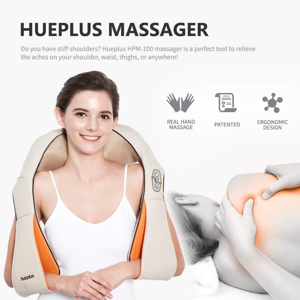 Hueplus HPM 100 Shiatsu Neck Shoulder Massager With Heat ...