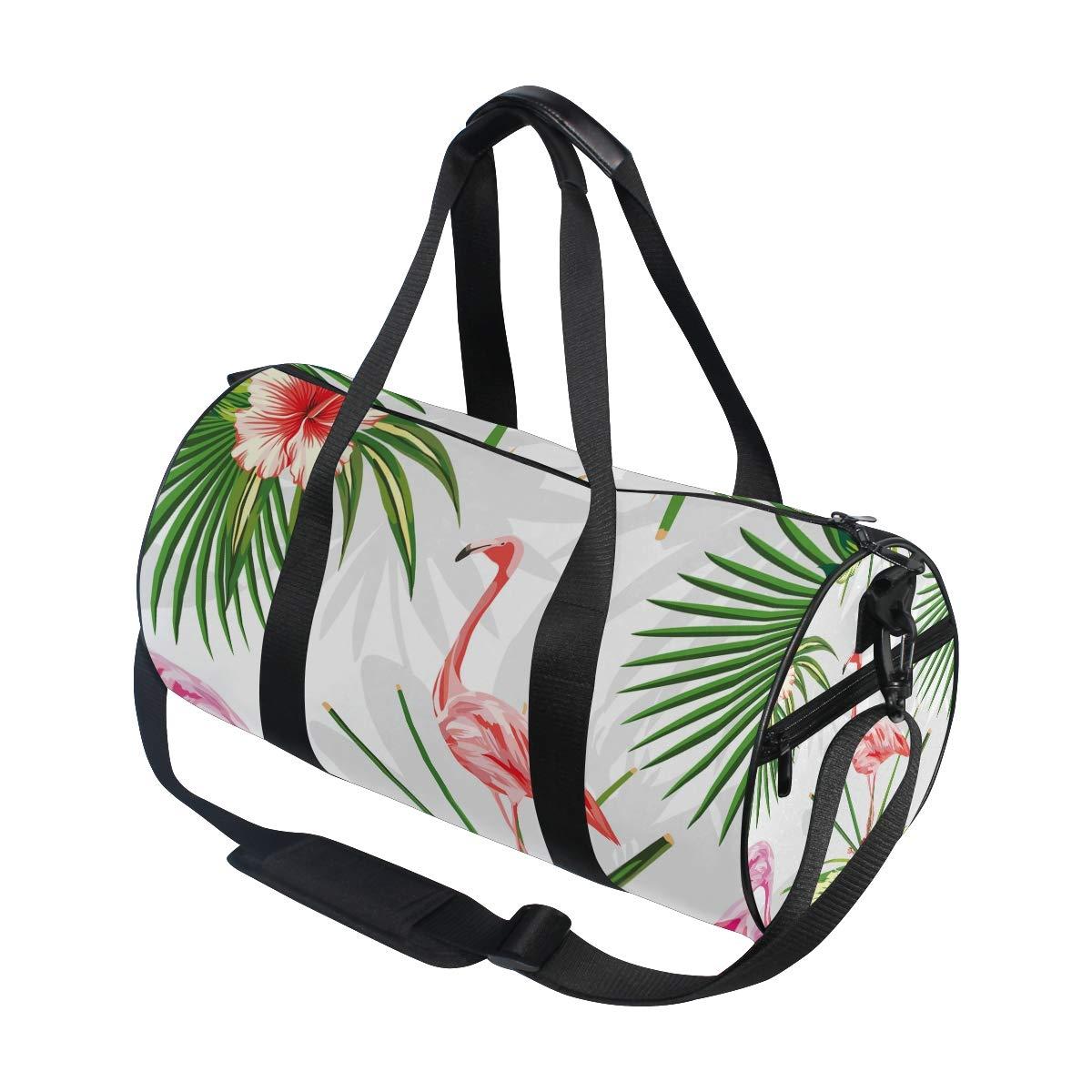 Flamingo Sports Gym Bag Travel Duffel Bag with Pockets Luggage & Travel Gear Shoulder Strap Fitness Bag by EVERUI (Image #3)