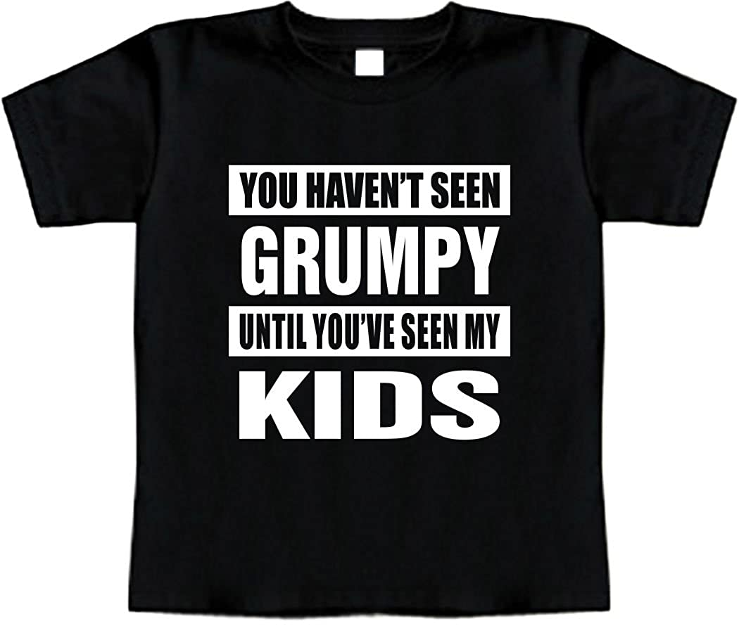 HAVENT SEEN Grumpy//SEEN My Kids Signature Depot Funny Baby T-Shirt Toddler Tee Shirt