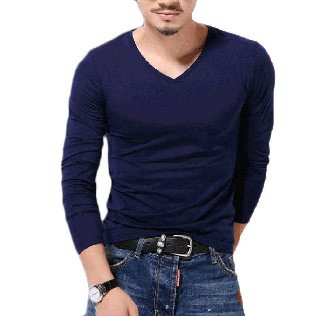 Zimaes-Men Soft Chic Cozy Pullover Oversize Tees Top Tshirts 10 S