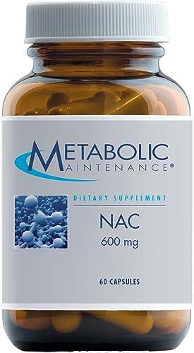 Metabolic Maintenance NAC – 600 Milligrams Pure N-Acetyl-L-Cysteine, No Fillers 60 Capsules