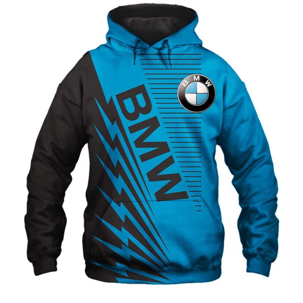 XXXL TJZY Hommes Hoodies Veste Pour Bmw 3D Num/érique Impression Encapuchonn/é Zip//Pullover D/écontract/ée Sauteur Sweat-Shirts Teen Bule2