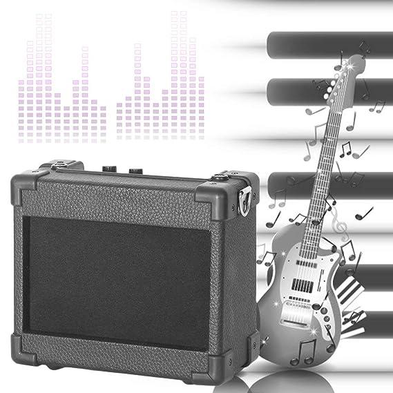 5W Mini portátil de Amplificador de Guitarra Guitarra amperio con 4 Pulgadas de Altavoces Accesorios de Guitarra para Guitarra eléctrica acústica: ...