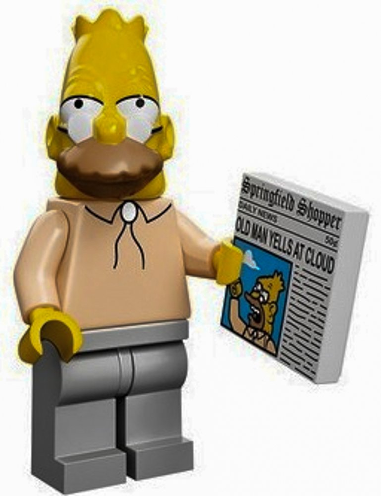 LEGO The Simpsons Collectiable Minifigure 71005 Grampa Gandpa with Newspaper