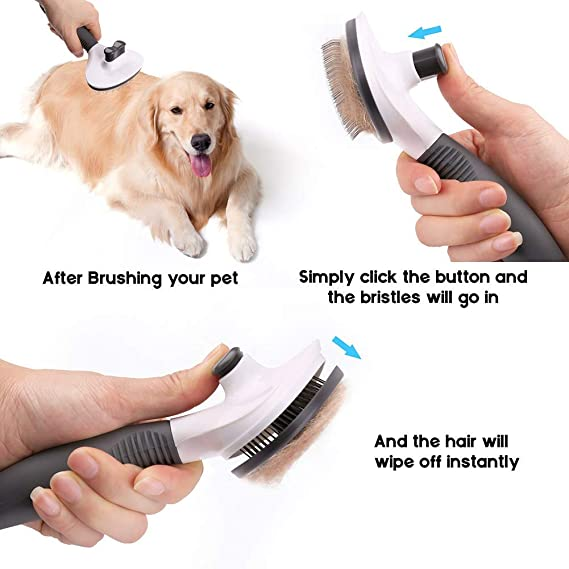 LotFancy Cepillo para Perros Gatos, Peines Mascota para el Aseo de ...