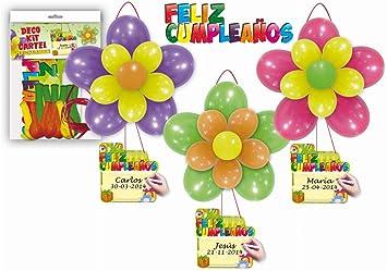 GLOBOLANDIA Deco Kit Cartel Feliz Cumpleaños: Amazon.es ...