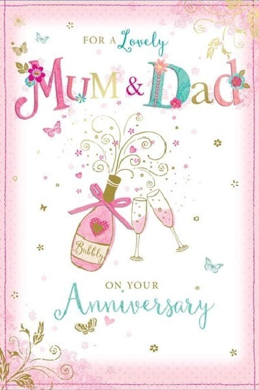 Buon Anniversario Di Matrimonio Mamma E Papa.Biglietto Di Auguri Per Anniversario Di Matrimonio Per Mamma E