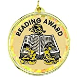 Reading Award Medal Comes with Neck Ribbon - Pack of 12