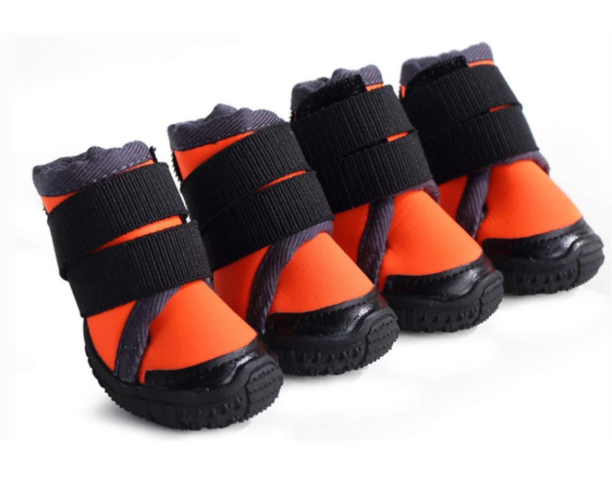 orange NO.60 orange NO.60 Dog shoes Puppy Sport shoes TPR Sole Pet shoes Good Skidproof Wear-Resistant Cat shoes