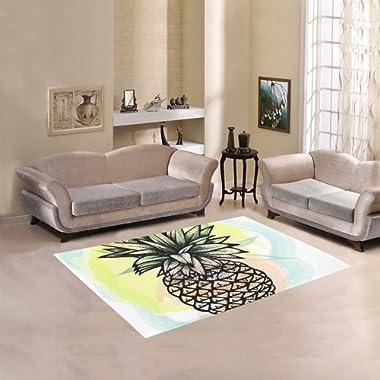 Happy More Custom Pineapple Fruit Area Rug Indoor/Outdoor Decorative Floor Rug