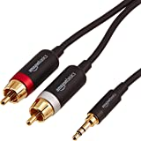 Amazon Basics 3.5mm to 2-Male RCA Adapter Audio Stereo Cable - 25 Feet