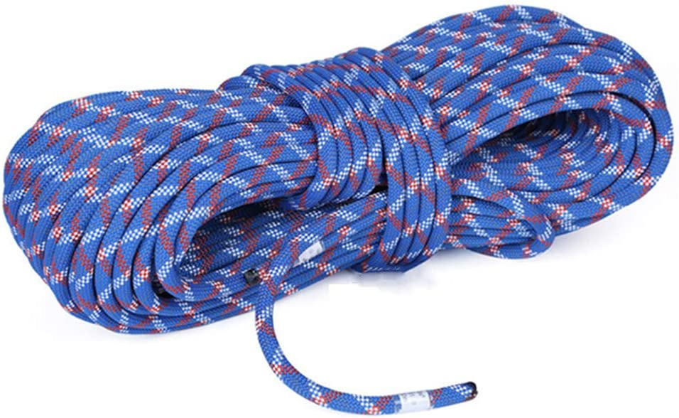 静的登山ロープ、多目的ロープ12mmの屋外の静的なロープの速度低下の摩耗の上昇ロープの高高度の救助ロープ(ブルー),30m  30m