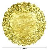 100 Pcs 12 Inch Round Lace Paper Doilies Foil Paper Placemats Doily Paper Pad for Cakes Crafts Party Weddings Tableware Décor