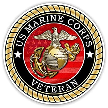 Amazon Com Us Marine Corps Veteran Sticker For Cars