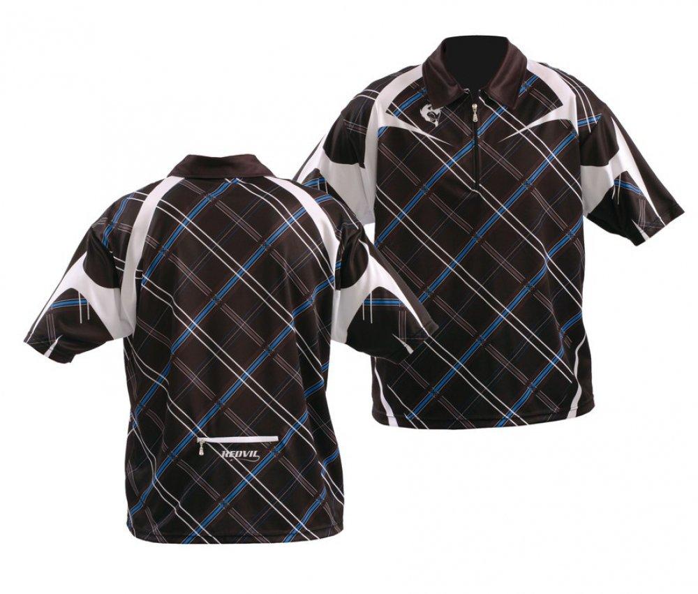 Polo Shirt ROTvil schwarz weiß blau Gr. M, Herren