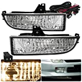 (US) Honda Prelude Clear Lens Driving Replacement Fog Lights Pair Upgrade Pair Set Lamps Assembly
