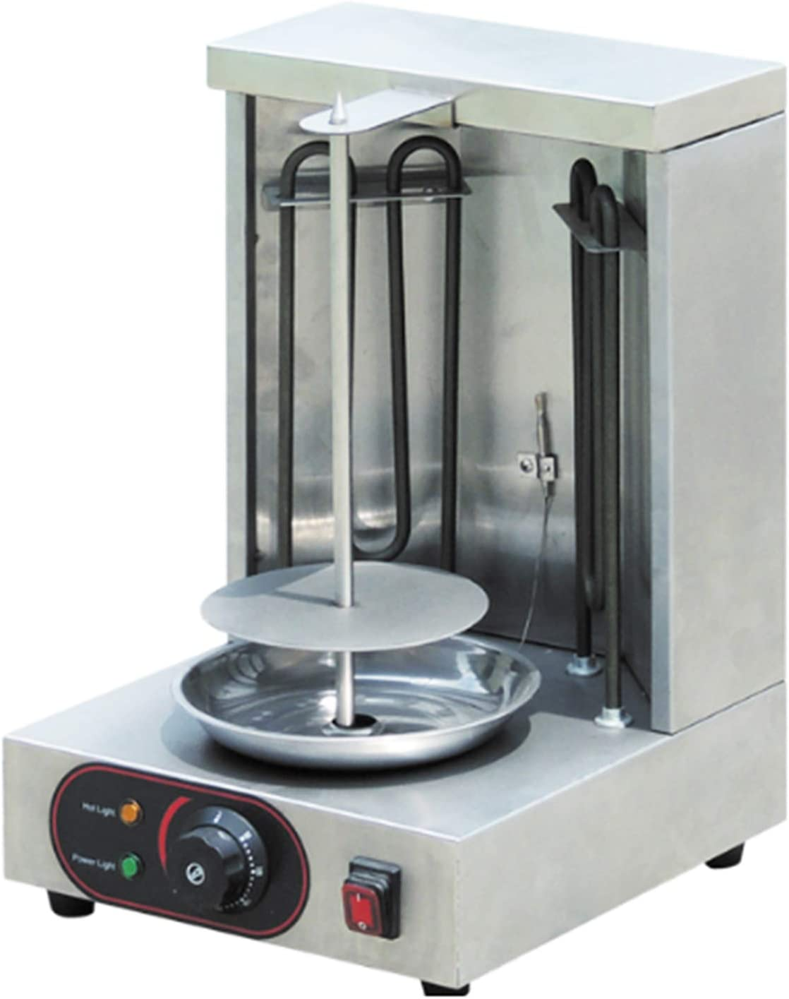 Shawarma Grill Machine Electric Doner Kebab Machine Mini Gyro Machine 2 Burners Vertical Broiler Meat Capacity 11lbs