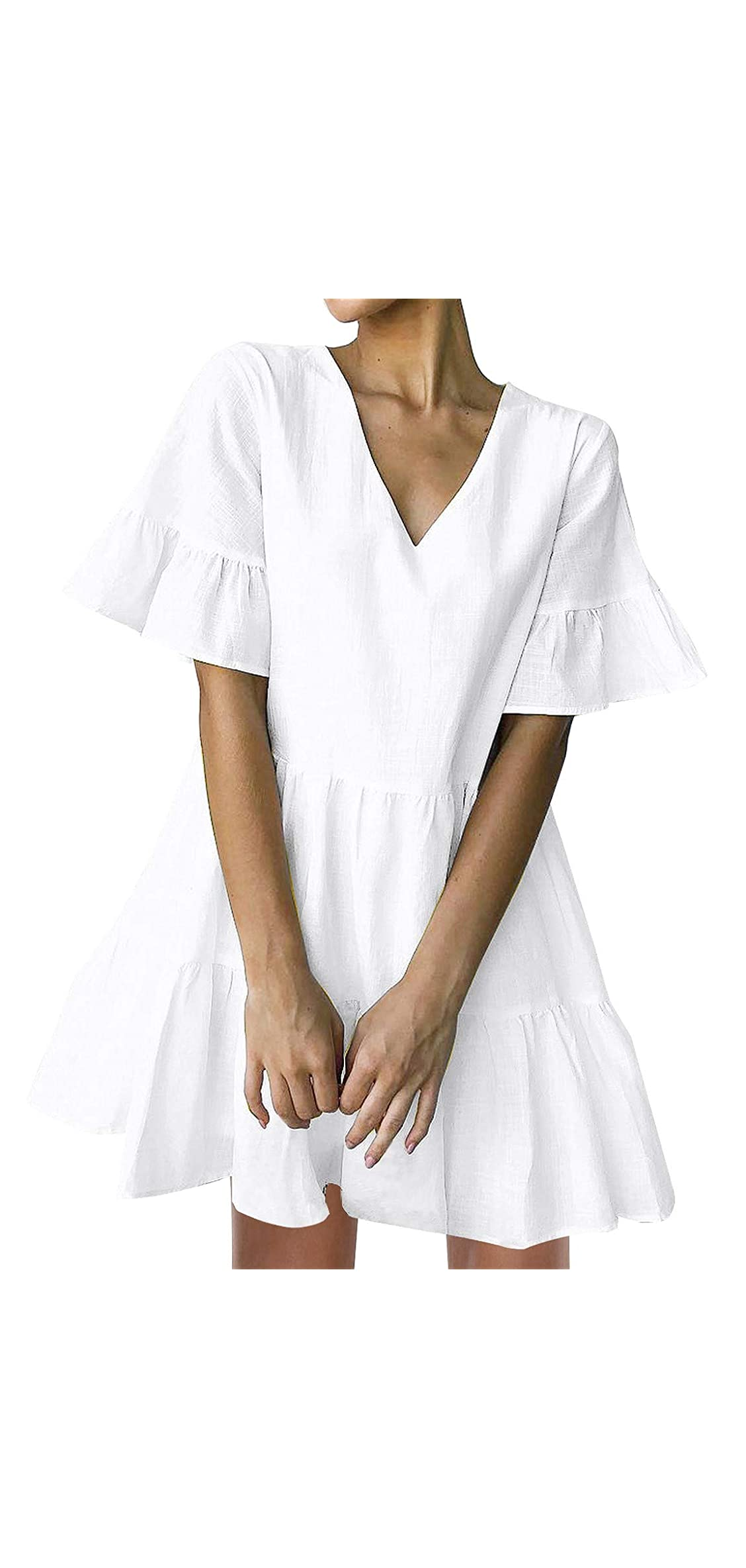 Womens Cute Shift Dress With Pockets Fully Lined Bell