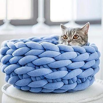 Lamzoom Cama para Mascotas Deluxe para Gatos, tamaño pequeño, Mediano, para Perros con