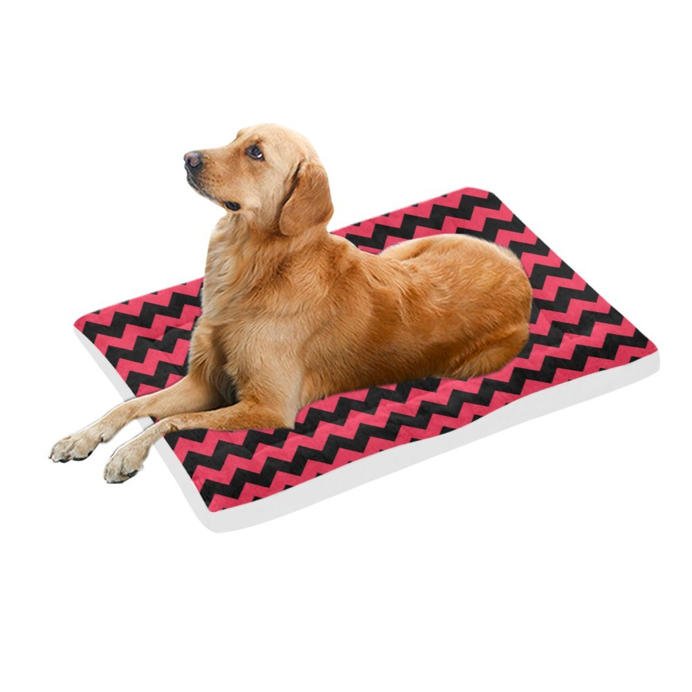 42\ your-fantasia Black Wavy Stripes Pet Bed Dog Bed Pet Pad 42 x 26 inches