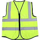 BESPORTBLE Reflective Safety Vest Zipper Front High Visibility Vests with Pockets for Outdoor Road Traffic Sanitation…