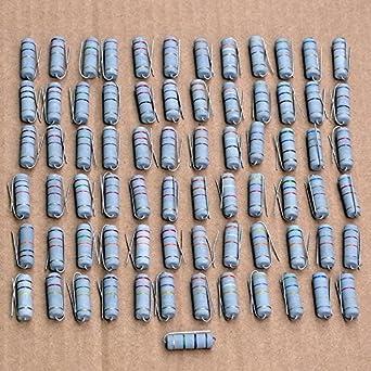 Electronics-salon 10/pcs 560/K Ohm 5/watts 5/W en m/étal Oxyde film r/ésistance.