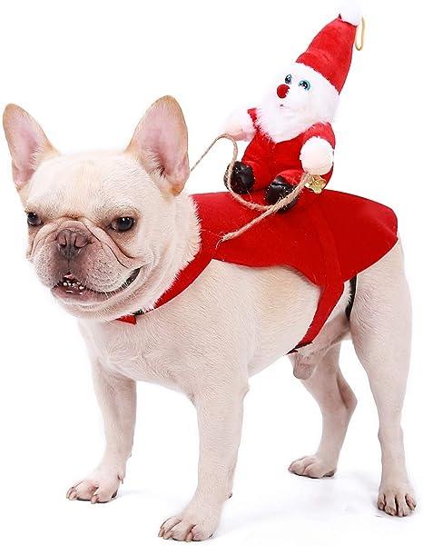 Homieco Trajes de Navidad para Perros, Santa Disfraz para Perros ...