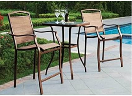 Amazing Amazon Com 3 Pc High Top Bistro Table Chairs Set Andrewgaddart Wooden Chair Designs For Living Room Andrewgaddartcom