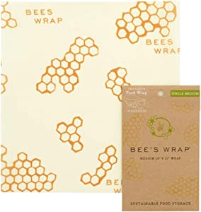 Bee's Wrap Small Medium Pack, Eco Friendly Reusable Food Wraps, Sustainable Plastic Free Food Storage - 10