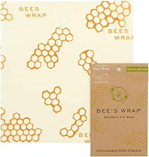 "product image for Bee's Wrap Small Medium Pack, Eco Friendly Reusable Food Wraps, Sustainable Plastic Free Food Storage - 10"" x 11"""