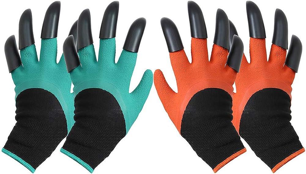 Garden Genie Gloves with ClawsWaterproof garden gloves for Digging 2 Pairs