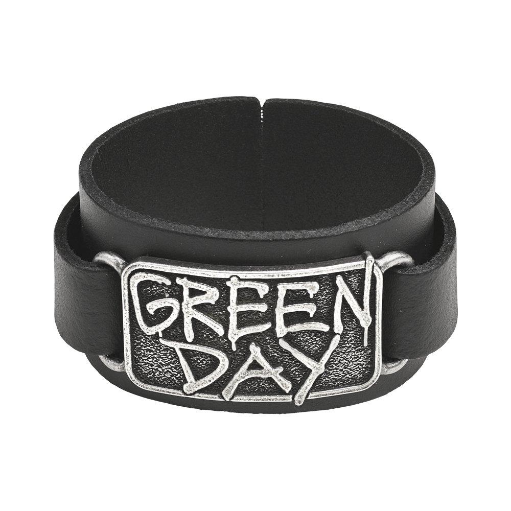 Green Day Revolution Radio Logo Leather Wriststrap