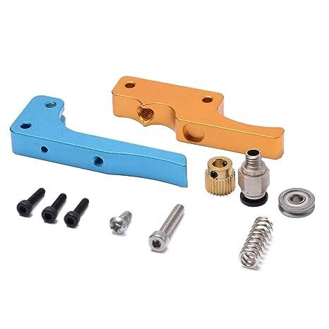 Nrpfell Impresora 3D Oro Azul Mk8 Bowden Extrusor Directo Kit de ...