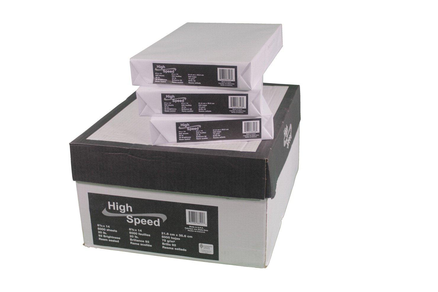Willcopy 854001 HS Multi-Purpose Copy Paper, Legal Size, 8-1/2'' x 14'' Size, Bright White