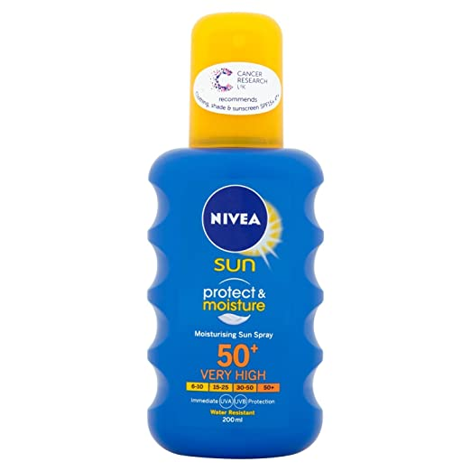 Nivea Sun Immediate Protection Moisturising Sun Spray SPF50+ 200 ml